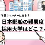 【日本郵船の採用大学は?】気になる学歴フィルターの有無や倍率などを徹底調査!